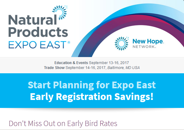 Expo East 2017 Early Bird Registration Now Open